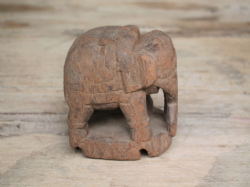 Wooden Baby Elephant - Antique, Tribal <b>SOLD<b>